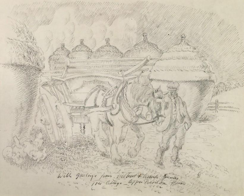 Farmer, Horse and Hay-cart