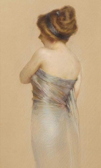 The satin dress