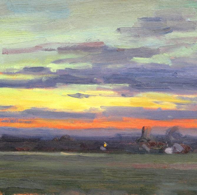 Edward Noott RBSA  Daybreak, Castlemorton