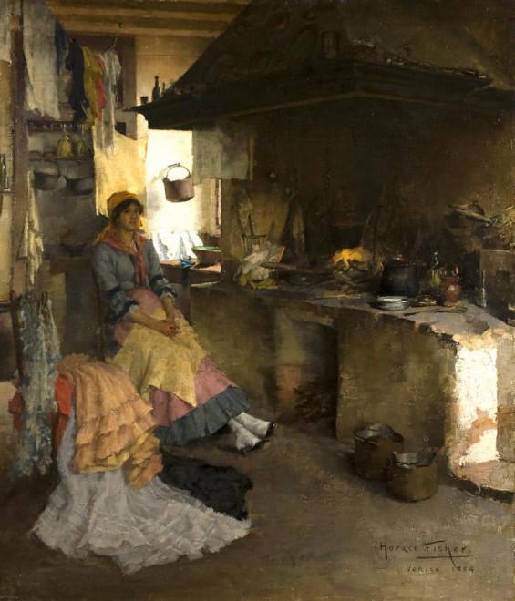 A moments rest - Venetian interior