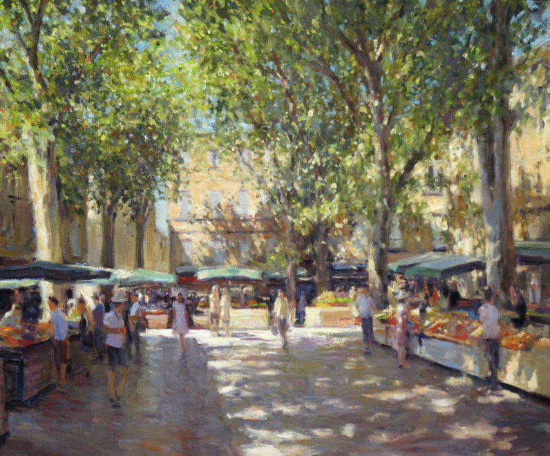 Edward Noott RBSA  Market day - Aix