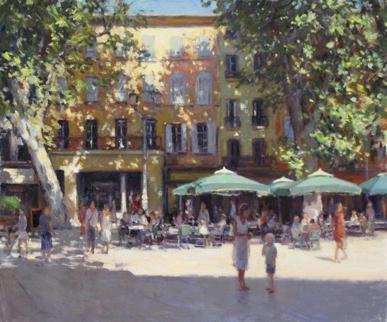 Edward Noott RBSA  Old town - Aix-en-Provence