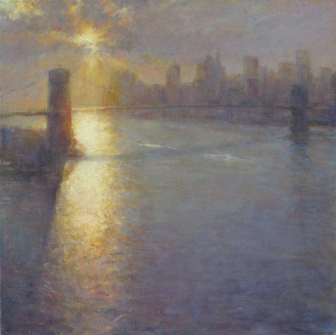 Edward Noott RBSA  Brooklyn Bridge, NYC