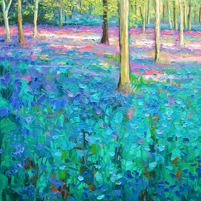Halima Washington-Dixon, Bluebell woods, late afternoon