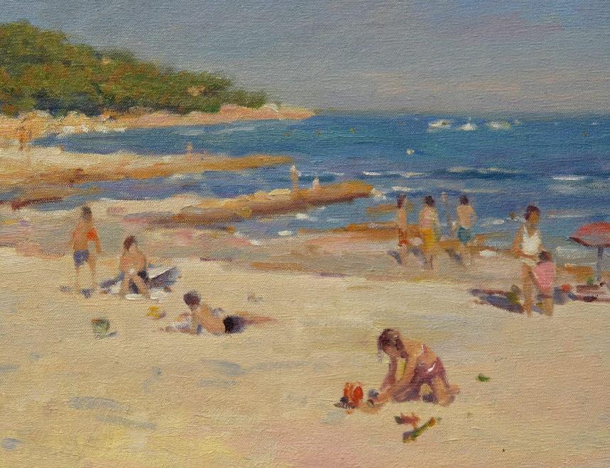 Edward Noott RBSA  Beach day L`Escalet