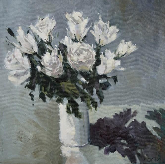 Gary Long, White roses 2
