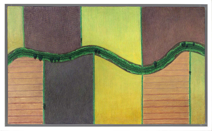 Diana Moore, A Stream Through Fields in Bloom