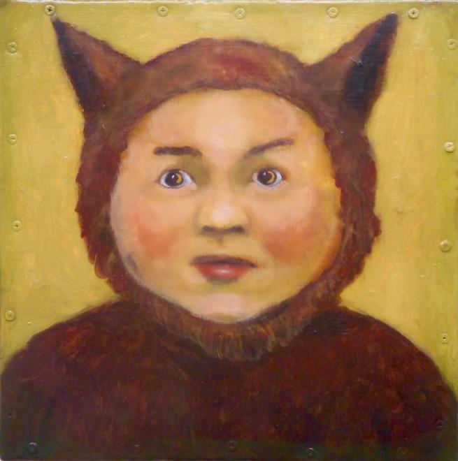Santiago Perez, Portrait of the Little Clown Who Was Raised by Wolves