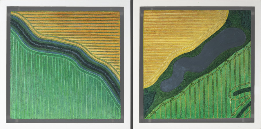 Diana Moore, Study in Greens and Golds