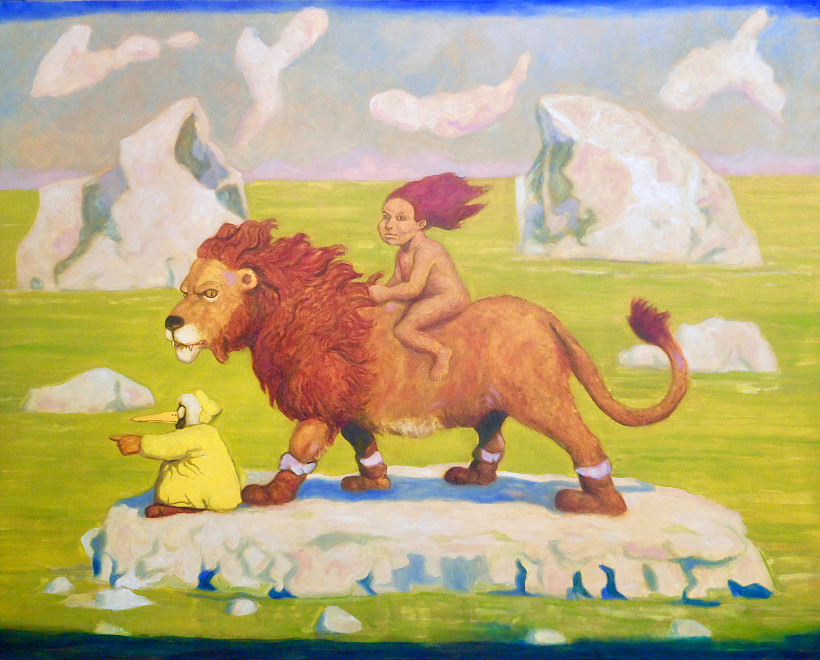 Santiago Perez, The Red-Headed Kid and the Lion in the Arctic