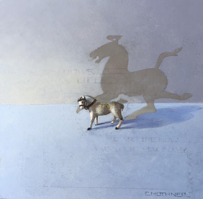 Carol Mothner, White Horse & Her Shadow