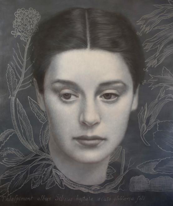 Alberto Galvez, Mujer con Thalaspi después de la ferrotipia de Otto Steinert.
