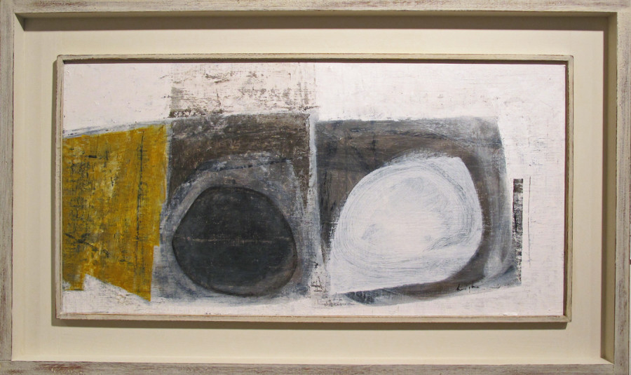 Leigh Davis, Composition in Yellow, Grey and White
