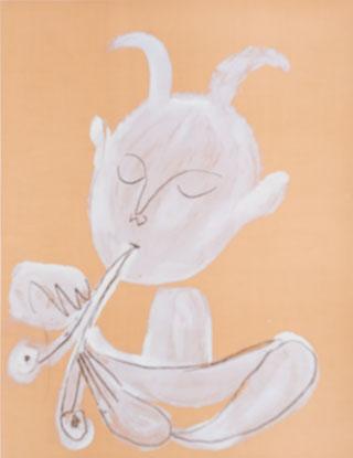 Faun playing flute, 1946