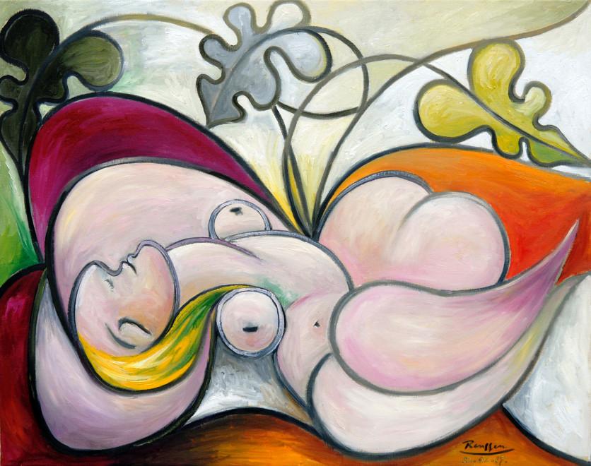 Recumbent woman