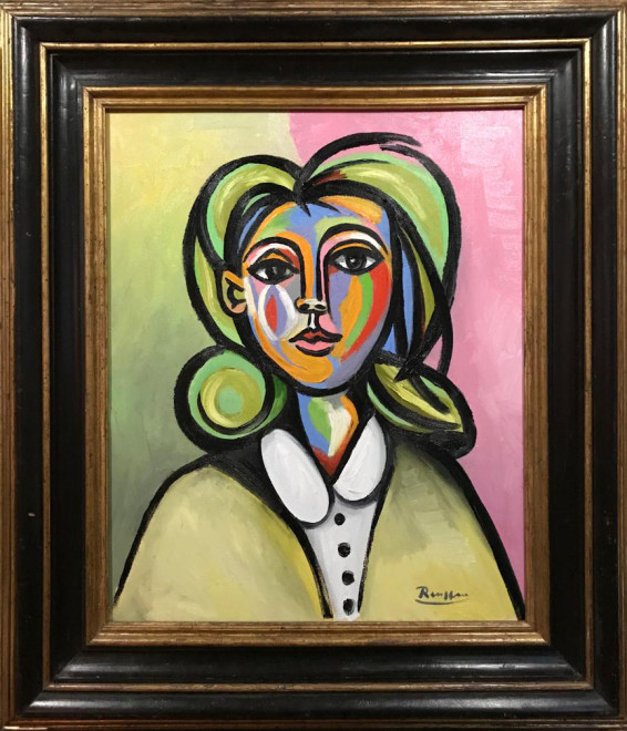 Woman in a white blouse