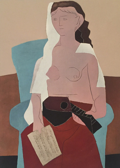 Seated woman with mandolin, 1925