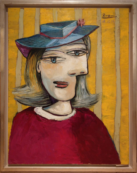 Woman with small hat