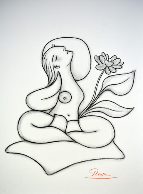Size M   Lotus woman