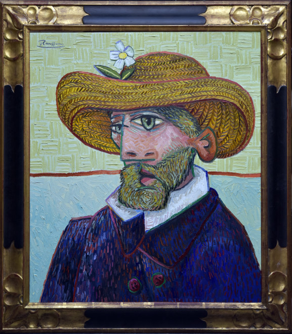 Man in a straw hat