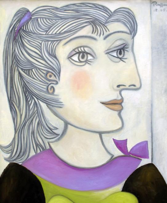 Erik Renssen, Woman with ponytail, 2011