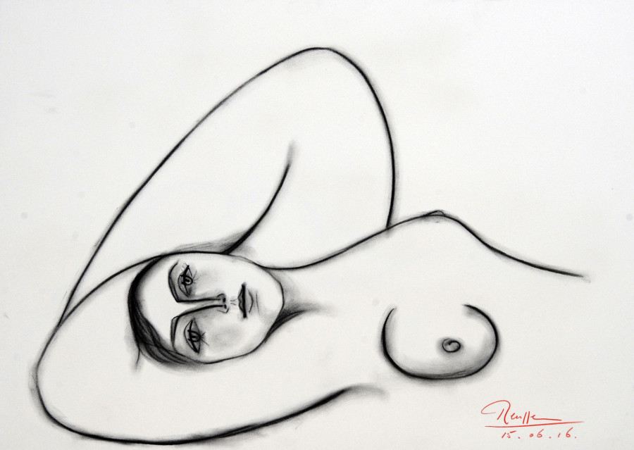 Sleeping nude VII