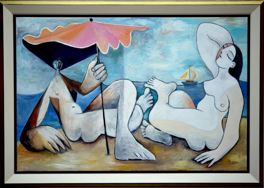Man and woman on a beach