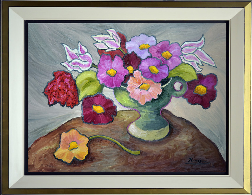 M/L / Flowers in a green vase