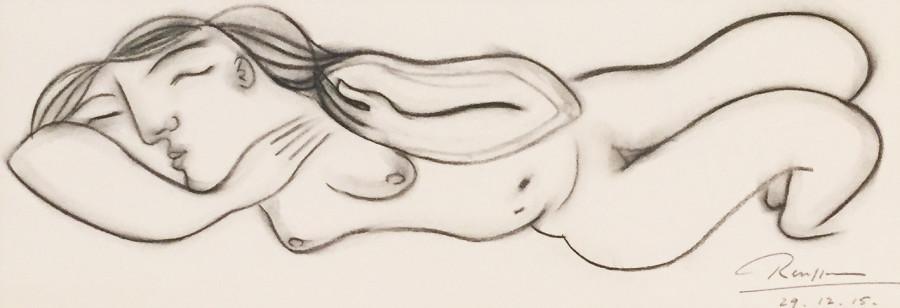 Sleeping nude V