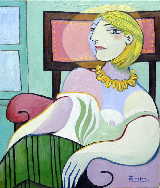 Seated woman in front of a window