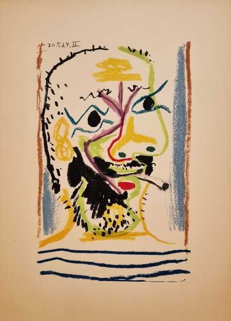 Face of a bearded man II, 1964