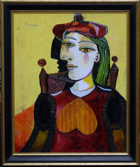 Woman in a red beret