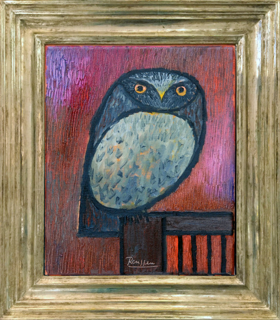 Little owl on a chair | edition of 10