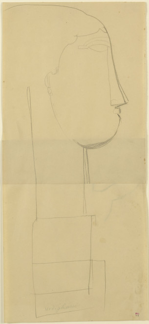 <span class=&#34;artist&#34;><strong>Amedeo Modigliani</strong></span>, <span class=&#34;title&#34;><em>Head, Right Profile on a Plinth</em>, c.1911</span>