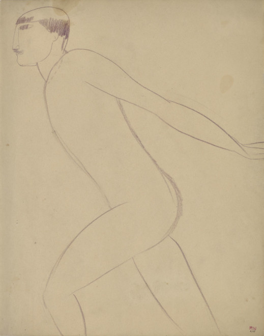 <span class=&#34;artist&#34;><strong>Amedeo Modigliani</strong></span>, <span class=&#34;title&#34;><em>Acrobat in Profile</em>, c.1910-11</span>