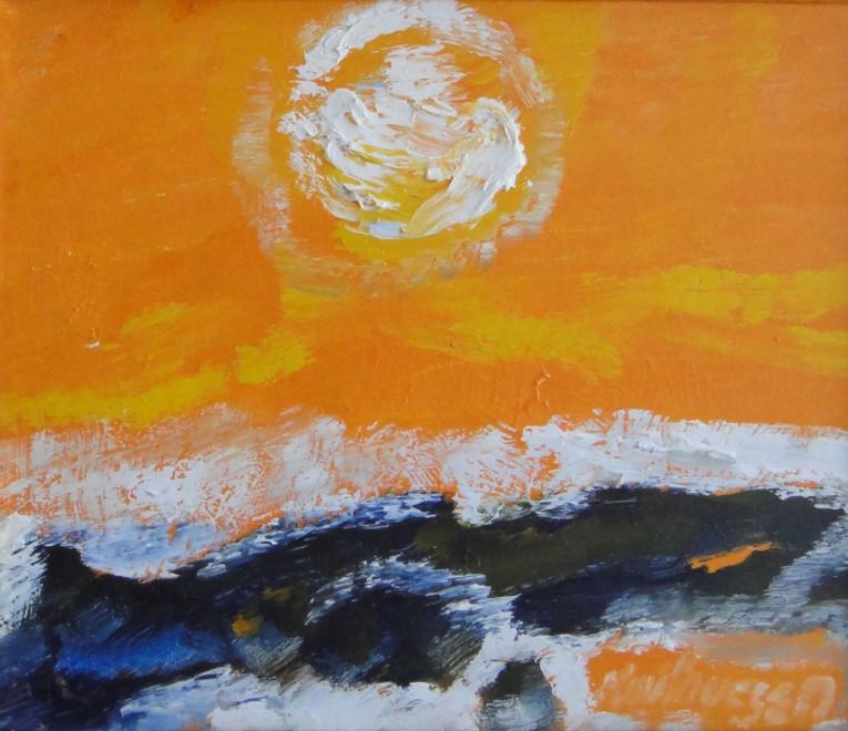 """<span class=""""artist""""><strong>Albert Houthuesen</strong></span>, <span class=""""title""""><em>White Sun, Over Rockey Shore</em>, 1975</span>"""