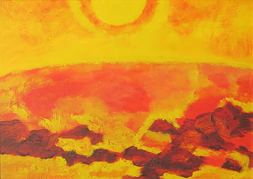 """<span class=""""artist""""><strong>Albert Houthuesen</strong></span>, <span class=""""title""""><em>Eastern Rocky Shore</em>, 1974</span>"""