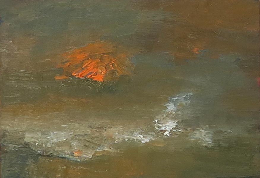 <span class=&#34;artist&#34;><strong>Albert Houthuesen</strong></span>, <span class=&#34;title&#34;><em>Orange Sun, White Wave </em>, c.1967</span>
