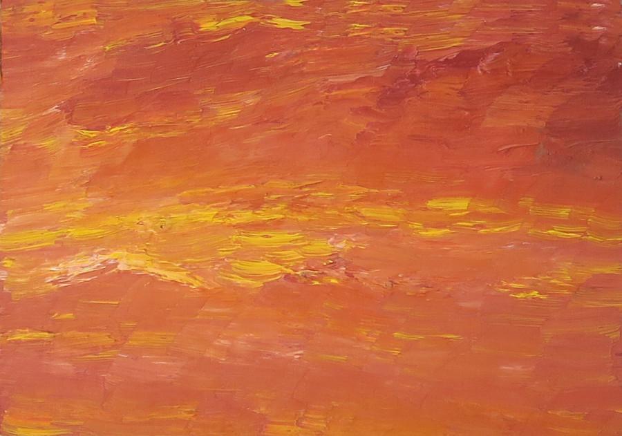 "<span class=""artist""><strong>Albert Houthuesen</strong></span>, <span class=""title""><em>Orange and Yellow Seascape</em>, c.1965</span>"