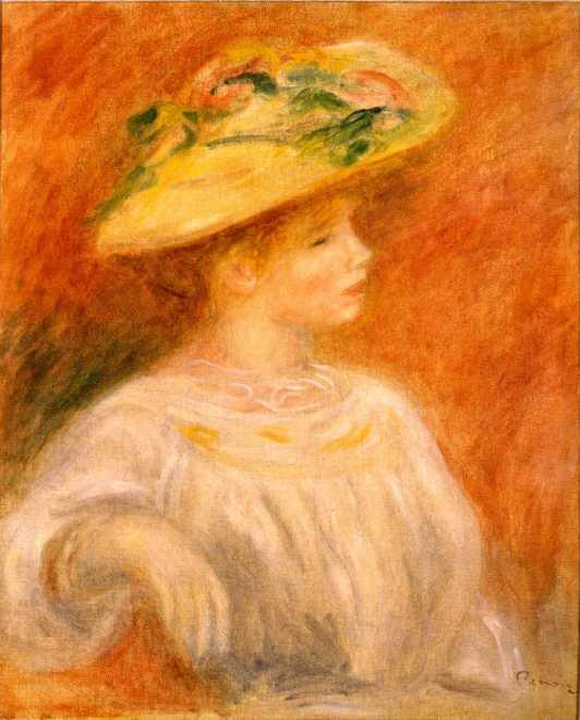 Femme au Chapeau de fleur