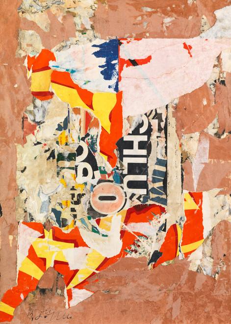 "<span class=""artist""><strong>Reinhold Koehler</strong></span>, <span class=""title""><em>Plakat-Décollage 1957/3</em>, 1957</span>"