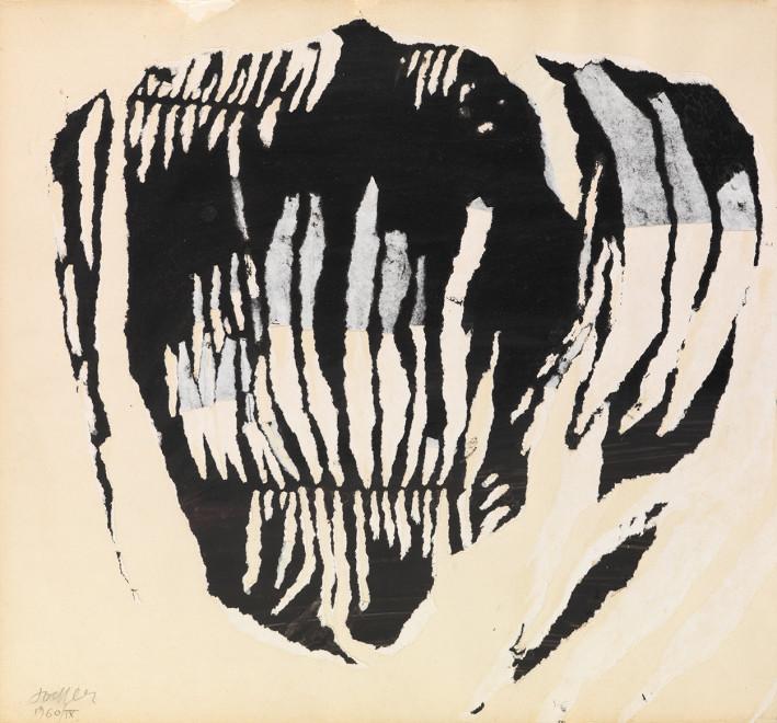 "<span class=""artist""><strong>Reinhold Koehler</strong></span>, <span class=""title""><em>Décollage Positiv-Negativ 1960 IX/1</em>, 1960</span>"