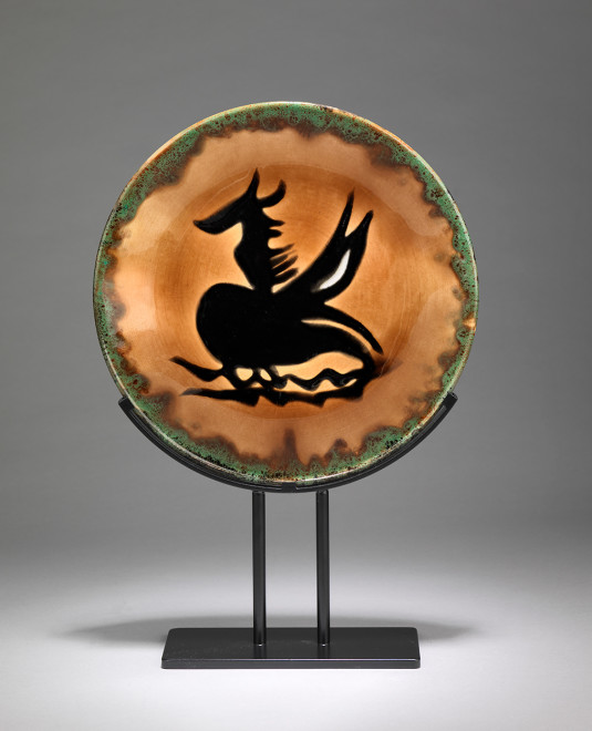 Plate - Orange & Green - Pegasus