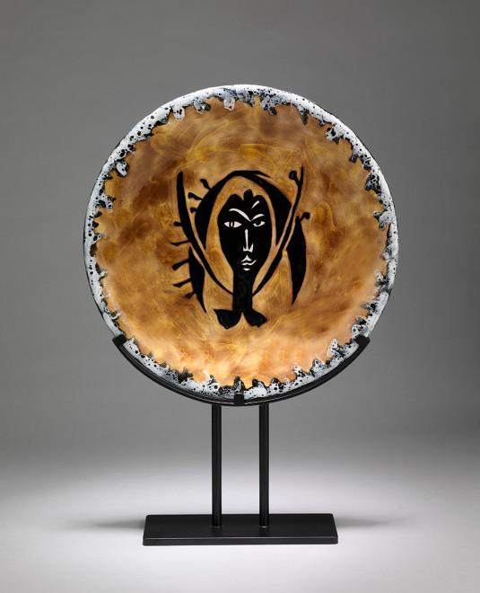 "<span class=""artist""><strong>Jean Lurçat</strong></span>, <span class=""title""><em>Plate - Orange & Grey - Nereid</em>, c. 1955</span>"