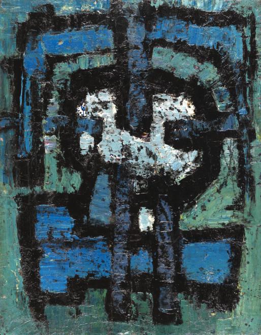 """<span class=""""artist""""><strong>Frank Avray Wilson</strong></span>, <span class=""""title""""><em>FAW804 - Talisman</em>, 1954</span>"""