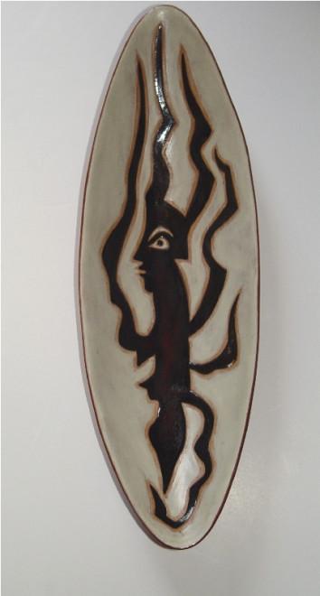 Plate - Oblong - White - Medusa