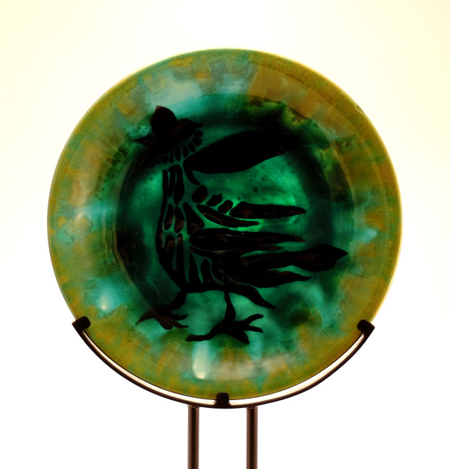 Plate - Green - Waking Rooster