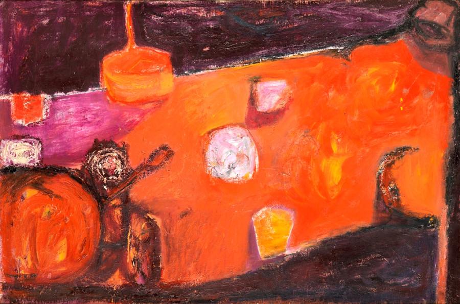 Orange Figure, Still Life and Purple Shadows