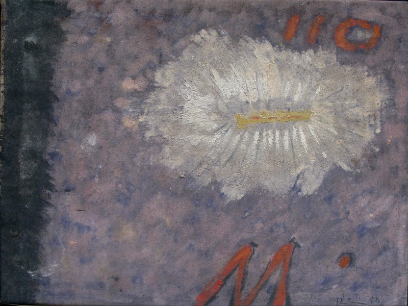 "<span class=""artist""><strong>Martin Bradley</strong></span>, <span class=""title""><em>White Flower</em>, 1958</span>"