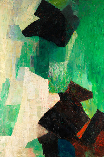 "<span class=""artist""><strong>Joseph Lacasse</strong></span>, <span class=""title""><em>Dominante verte</em>, 1947</span>"